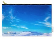 Above The Clouds Sky Is Always Blue Carry-all Pouch