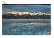 Abraham Lake Ice Bubble Sunset Carry-all Pouch
