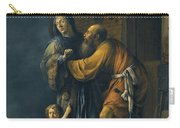 Abraham Pleading With Sarah On Behalf Of Hagar Carry-all Pouch