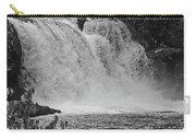 Abrams Falls Cades Cove Tn Black And White Carry-all Pouch