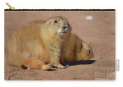 Absolutely Adorable Prairie Dog With  A Friend Carry-all Pouch