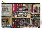 Rue Peel Montreal En Hiver Parie De Hockey De Rue Peel Pub Carry-all Pouch