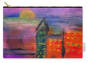 Abstract - Acrylic - Lost In The City Carry-all Pouch