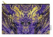 Abstract Amethyst  With Gold Marbled Texture Carry-all Pouch