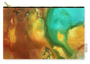 Abstract Art Colorful Turquoise Rust River Of Rust I By Madart  Carry-all Pouch
