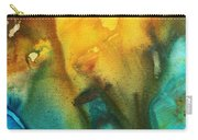 Abstract Art Colorful Turquoise Rust River Of Rust IIi By Madart Carry-all Pouch