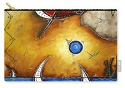 Abstract Art Contemporary Coastal Cityscape 3 Of 3 Capturing The Heart Of The City I By Madart Carry-all Pouch