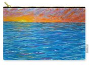 Abstract Art- Flaming Ocean Carry-all Pouch