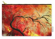 Abstract Art Floral Tree Landscape Painting Fresh Blossoms By Madart Carry-all Pouch