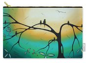 Abstract Art Landscape Bird Painting Family Perch By Madart Carry-all Pouch