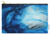 Abstract Art Original Blue Pianting Underwater Blues By Madart Carry-all Pouch by Megan Duncanson