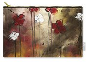 Abstract Art Original Flower Painting Floral Arrangement By Madart Carry-all Pouch by Megan Duncanson
