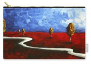 Abstract Art Original Landscape Painting Winding Road By Madart Carry-all Pouch