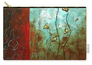 Abstract Art Original Poppy Flower Painting Subtle Changes By Madart Carry-all Pouch