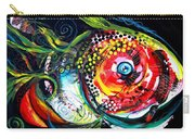 Abstract Baboon Fish Carry-all Pouch