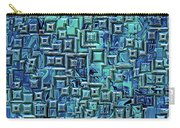 Abstract Blue And Green Pattern Carry-all Pouch