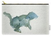 Abstract Blue Squirrel Carry-all Pouch