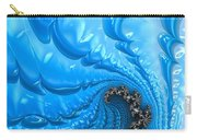 Abstract Blue Winter Fractal Carry-all Pouch