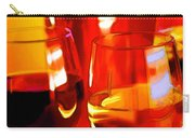 Abstract Bottle Of Wine And Glasses Of Red And White Carry-all Pouch