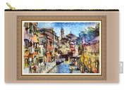 Abstract Canal Scene In Venice L A S With Decorative Ornate Printed Frame. Carry-all Pouch