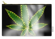 Abstract Cannabis Background Carry-all Pouch