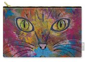 Abstract Cat Meow Carry-all Pouch