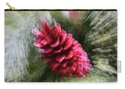 Abstract Christmas Card - Red Pine Cone Blast Carry-all Pouch