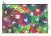 Abstract Circles With Flowers Carry-all Pouch