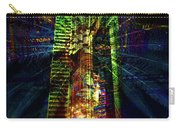 Abstract City In Green Carry-all Pouch