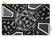 Abstract Cobblestone Blk/wht. Carry-all Pouch