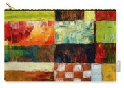 Abstract Color Study With Checkerboard And Stripes Carry-all Pouch