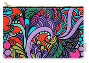 Abstract Colorful Floral Design Carry-all Pouch