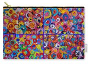 Abstract Colorful Flowers 4 Carry-all Pouch
