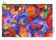 Abstract Colorful Flowers Impasto Palette Knife Modern Impressionist Oil Painting Ana Maria Edulescu Carry-all Pouch