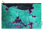 Abstract Corrosive Metal Background With Turquoise Paint Cracks Carry-all Pouch