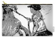 Abstract Cowboy And Horse Carry-all Pouch