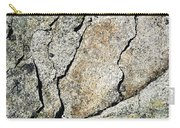 Abstract Cracks On A Granite Block Of Stone Carry-all Pouch