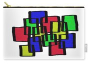 Abstract Cubicles Carry-all Pouch