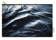 Abstract Dark Blurred Ripples Carry-all Pouch