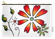 Abstract Decorative Greeting Card Art Thank You By Madart Carry-all Pouch