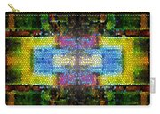 Abstract Digital Shapes Colourful Stained Glass Texture Carry-all Pouch