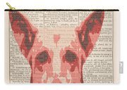 Abstract Dog On Dictionary Carry-all Pouch