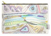 Abstract Drawing Seventeen Carry-all Pouch