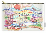 Abstract Drawing Three Carry-all Pouch