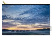 Abstract Early Morning Sunrise Over Farm Land Carry-all Pouch