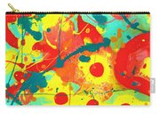 Abstract Floral Fantasy Panel A Carry-all Pouch