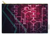 Abstract Flowchart Background Carry-all Pouch
