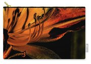 Abstract Flower Golden Red Carry-all Pouch