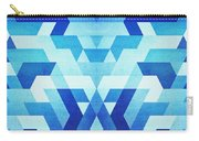 Abstract Geometric Triangle Pattern Futuristic Future Symmetry In Ice Blue Carry-all Pouch