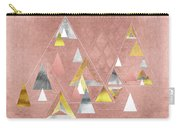 Abstract Geometric Triangles, Gold, Silver Rose Gold Carry-all Pouch